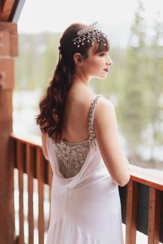 Temperley London Wedding Dress Rocky Mountain Weddings #temperley #wedding #dress #weddingdress #tiara #crown #photography