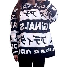 Sudaderas Mujer 2015 New Autumn Winter Women Hoodies Sweatshirt Japanese Harajuku Letter Print Hooded Shirt Casual Loose Style