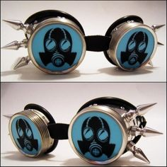 Gas+Mask+Steampunk+Cyber+Goth+Goggles+with+two+and+an+by+Cyb3rburn,+$24.99