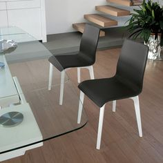Jude L Chair Lacquered Black, $275, now featured on Fab.  DOMITALIA-  look for white