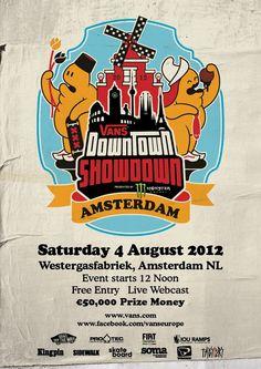Affiche contest skate Vans Downtown Showdown 2012