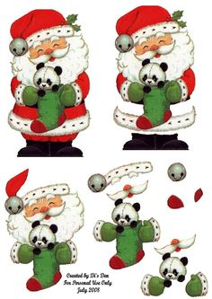 Santa & Stocking 3D Sheet Photo:  This Photo was uploaded by spyrocatgirl. Find other Santa & Stocking 3D Sheet pictures and photos or upload you...