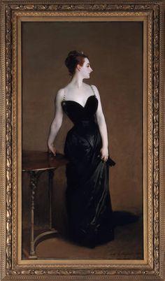 Retrato de Madame X (1884)  John Singer Sargent - Metropolitan Museum of Art.  Madame X ou o Retrato de Madame X é o título informal de um retrato, de dimensões 208.6 x 109.9 cm[1], datado de 1884, de autoria do famoso pintor norte-americano John Singer Sargent, nascido na Itália.