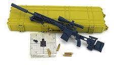 BATTLE Field 1:6 Scale Remington MSR Sniper Rifle Gray Color 1/6 gun ghost recon