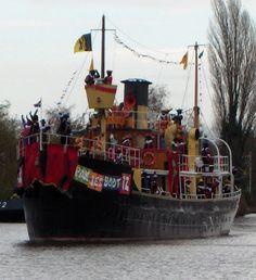 De stoomboot van Sinterklaas.