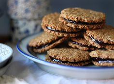 almond butter  jam sandwich cookies