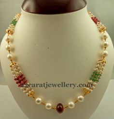 Beads Necklace for Kurthis | Jewellery Designs