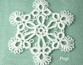 Tatted Lace Christmas Ornament Snowflake -Ice Crystal No.17 by snappytatter