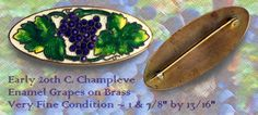 Vintage Enamel Grapes and Leaves on Copper Brooch ~ R C Larner Buttons at eBay  http://stores.ebay.com/RC-LARNER-BUTTONS