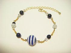 Navy blue bracelet kawaii bracelet navy blue by Coloramelody