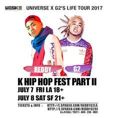 "D-10 we down big, dont miss! Get tickets now & save $6 w/ code ""WESKEVIP""!  7/7 #LA 18+ plus after party : http://e.sparxo.com/reddyg2la 7/8 #SF 21+ : http://e.sparxo.com/reddyg2sf Link in bio LA: @weskeent SF: @paulban -l #Reddy #레디 #G2 #지투 (full show) #Keroone #Gemini #ApolloLoco #Demi #JustinPark #BabyJ #WonJ #BokNCren (K & M) #Lunick #CocoAvenue #BJ  #1llb  #Saebyuk  #YEMusic #Slez  #tour #losangeles #sanfrancisco #khiphop #khiphopfest #샌프란 #엘에이 #333live #thegrandsf"
