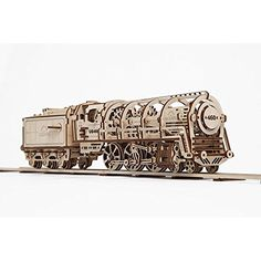 460 Steam Locomotive With Tender Mechanical 3d Puzzle UGEARS
