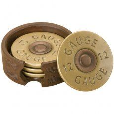 This Shotgun Shell Coaster Set is perfect for any hunter's home decor, and is also a great housewarming gift for an avid outdoorsman! The shotgun shell coaster set includes 4 coasters and a display ho Man Cave Garage, Cave Bar, Just In Case, Just For You, Man Cave Gifts, Man Gifts, Western Homes, Western Decor, Cowboy Western