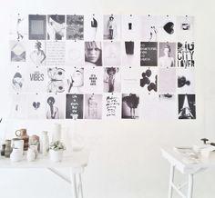 zwart/wit inspiratie wand