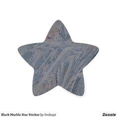 Black Marble Star Sticker