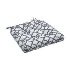 Charlton Home Barrows Printed Fretwork 3M Scotchgard Outdoor Cushion Fabric: Grey