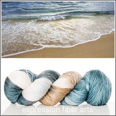 Expression Fiber Arts, Inc. - SAND AND SURF 'LUSTER' SUPERWASH MERINO TENCEL SPORT, $24.00 (http://www.expressionfiberarts.com/products/sand-and-surf-luster-superwash-merino-tencel-sport.html)