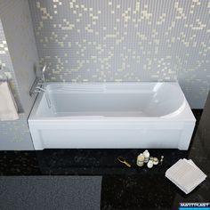 Bathtub - Tripoli; 180x80x52 cm; Acryl warranti - 15 years; Acryl thinkness - 4 mm;