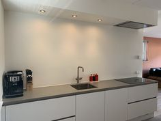 Grohe Red, Kitchen Island, Kitchen Cabinets, Philips Hue, Kitchen Interior, Toilet, Terracotta, Amsterdam, House
