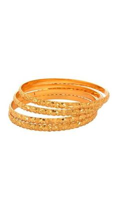 Waama Jewels Official Golden Four Bangle Gift for Sister Bangle for Girl ( Size Inc. 2.6 )