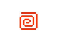 A E  labyrinth monogram / logo design symbol