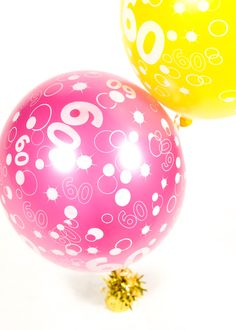 birthday celebration balloons in pink and yellow. Available in other colours also. 70th Birthday Parties, Birthday Celebration, Celebration Balloons, Balloon Shop, Balloon Bouquet, Easter Eggs, Special Occasion, Colours, Create
