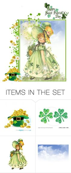 """♪ When Irish Eyes Are Smiling ♪        Happy St. Patrick's Day"" by beleev ❤ liked on Polyvore featuring art"