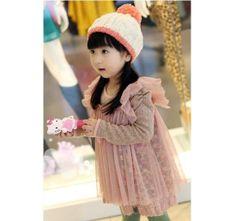 6T,7T toddler girl dresswedding party dress PINK dress kids clothes Baby dress girl skirt