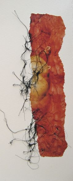 Berlin 'sketch'. paper. stitch. Adelaide Shalhope 2012