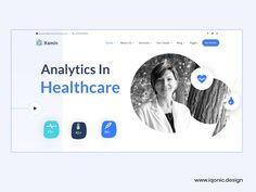 Xamin - Analytics in Healthcare WordPress Theme by Iqonic Design Blog Page, Wordpress Theme, Health Care, Design, Health