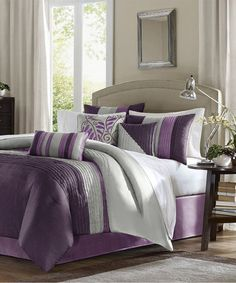 Purple Houston Comforter Set