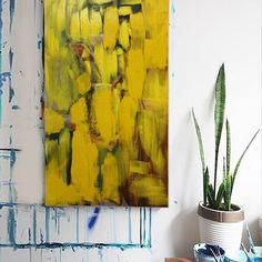 Modern art picture on beautiful background made of art acrylic paints by a contemporary artist in contemporary style. Contemporary Artwork, Contemporary Artists, Contemporary Style, Modern Art Pictures, Yellow Painting, Art Sketches, Abstract Art, Illustration Art, Canvas Art
