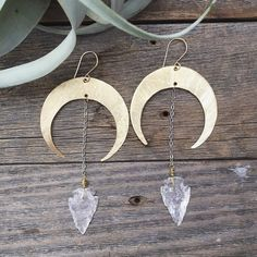 Handmade Crescent  Arrowhead Earrings from www.rustic-souls.com