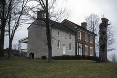 Old Russell County Virginia Courthouse. Built in 1799. The brick structure was added in 1818. Dickensonville Va.