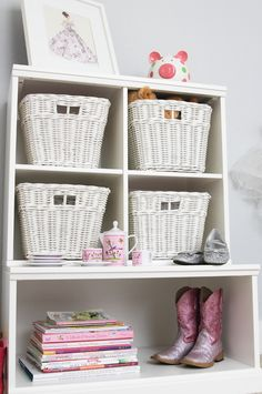 Project Nursery - PBK Cubby Storage with Wicker Baskets - Project Nursery