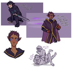 pt. 1 Escape (galra keith and druid lance) credit to Iwillbite on Deviantart
