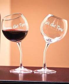 Get a little #tipsy with our Whimsical Wine Glasses, perfect gift for her. #WineGlass