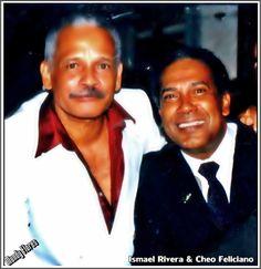 El Sonero Mayor Ismael Rivera a lado del El Gran Cheo Feliciano