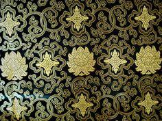 Stoff Blumen - 130 x 90 CM Herrliche Brokat Stoff gewebt feine... - ein Designerstück von hibou_2 bei DaWanda