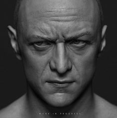 Likeness sculpt of James Mcavoy from Split/glass. 3d Face, Male Face, Male Body, Facial Anatomy, Human Anatomy, Face Reference, Anatomy Reference, Human Skin Texture, Zbrush Models