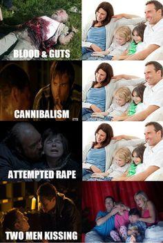 Cómo habrá reaccionado el público medio estadounidense a los últimos episodios de The Walking Dead