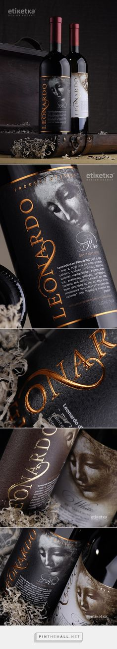 Leonardo on Behance by Valerii Sumilov (Валерий Шумилов) curated by Packaging Diva PD. Wow, is this pretty wine packaging.