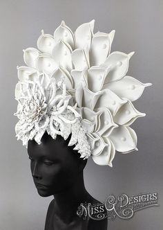 White Lotus Headdress by MissGDesignsShop on Etsy