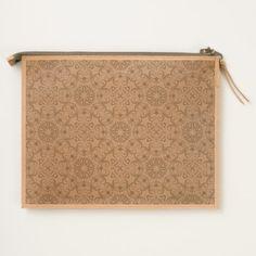 Floral luxury royal antique pattern travel pouch - patterns pattern special unique design gift idea diy