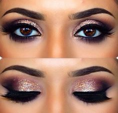 maquillage yeux marrons smoky eyes