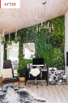 Fake Plant Living Wall Decor Before After Photos | Apartment Therapy