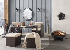 Handmade Braided Gray Indoor / Outdoor Area Rug & Reviews   Joss & Main 5 Piece Dining Set, Outdoor Area Rugs, Area Rugs For Sale, Beachcrest Home, Indoor Outdoor Area Rugs, Indoor, Living Room Decor, Area Rugs, Outdoor Furniture Sets