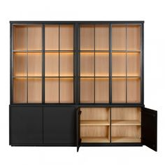 White Kitchen Decor, Kitchen Interior, Home Interior Design, Home Design Living Room, Barn Renovation, Shelving Design, Home Bar Designs, Living Room Cabinets, Cabinet Design