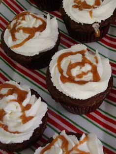 Hot Chocolate Cupcakes with Whipped Cream and Salted Caramel by Jessica   bake me away!, via Flickr
