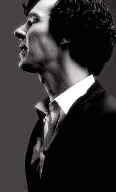 Benedict Cumberbatch as Sherlock -- johnlock How does John keep from nibbling etc. on that throat at all times! Benedict Sherlock, Sherlock Bbc, Sherlock Quotes, Sherlock Poster, Funny Sherlock, Sherlock Moriarty, Sherlock Season, Watson Sherlock, Khan Benedict